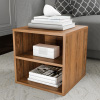 End Table ? Stackable Contemporary Minimalist Modular Cube Accent Table Double Shelves for Bedroom, Living Room or Office by Lavish Home (Brown)