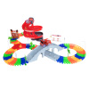 105 Piece Flexible Tracks Toy Set?Snap Together Racetrack, Spiral Ramp, Bridge, Turn-Around & Firetruck? Build & Design Your Own Raceway by Hey! Play!