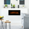 50? Electric Fireplace - Bottom Vent for Wall Mounting - Realistic LED Flame - Faux Log Media, Remote Control and Timer by Northwest (Black)