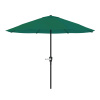 9-Foot Patio Umbrella - Outdoor Shade with Easy Crank ? Table Umbrella for Deck, Balcony, Porch, Backyard, or Poolside by Pure Garden (Hunter Green)