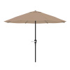 9-Foot Patio Umbrella - Outdoor Shade with Easy Crank ? Steel Table Umbrella for Deck, Balcony, Porch, Backyard, or Poolside by Pure Garden (Sand)