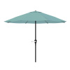 9-Foot Patio Umbrella - Outdoor Shade with Easy Crank ? Table Umbrella for Deck, Balcony, Porch, Backyard, or Poolside by Pure Garden (Dusty Green)