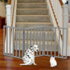 Wooden Pet Gate- Foldable 3-Panel Indoor Barrier Fence, Freestanding and Lightweight Design for Dogs, Puppies, Pets- 54 x24? by PETMAKER (Gray Paint)