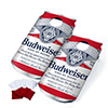 Budweiser Cornhole Outdoor Game Set, 2 Wooden Anheuser-Busch Can-Shaped Corn Hole Toss Boards with 8 Bean Bags by Hey! Play!