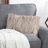 12x20? Plush Lumbar Pillow ? Luxury Accent Pillow Insert and Shag Glam Cover Set?For Bedroom or Living Room by Lavish Home (Coffee)