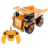 Remote Control Dump Truck? 1:22 Scale, Fully Functional RC Construction Toy Vehicle with Lifting Bed, Lights and Sounds for Kids by Hey! Play!