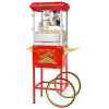 Hot & Fresh Popcorn Machine and Cart- Popper Makes 3 Gallons- 8-Ounce Kettle, Old Maids Drawer, Warming Tray & Scoop by Superior Popcorn Company (Red)