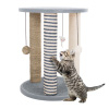 Cat Tower with 3 Scratching Posts, Carpeted Base Play Area and Perch ? Furniture Scratching Deterrent Tree for Indoor Cats by PETMAKER (Gray)