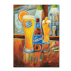 Blue Moon 'Darts' Canvas Art