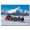 Clydesdales in Snow Covered Mountains - 14 x 19 Canvas