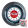 Coca-Cola Clock w/Chrome Finish - 1930s Style - 11.75 inches