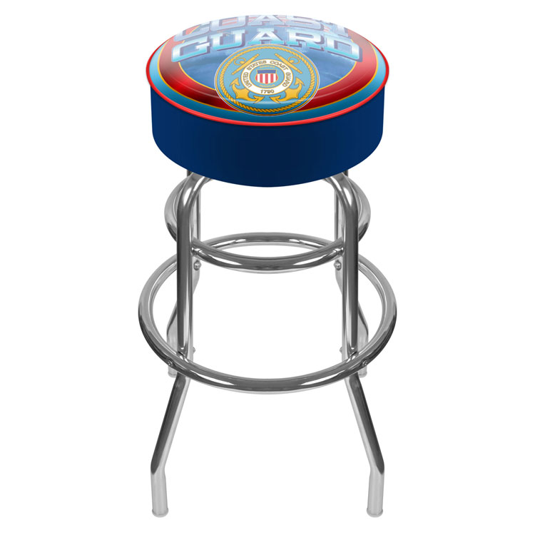 Fabulous Us Coast Guard Padded Bar Stool Caraccident5 Cool Chair Designs And Ideas Caraccident5Info