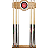 Atlanta Hawks NBA Billiard Cue Rack with Mirror